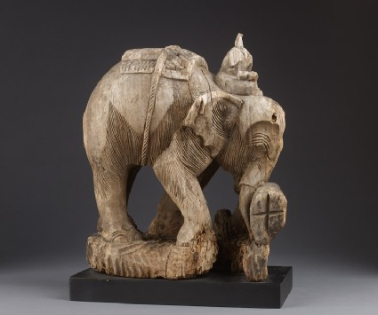 Elephant with mahoutoblique