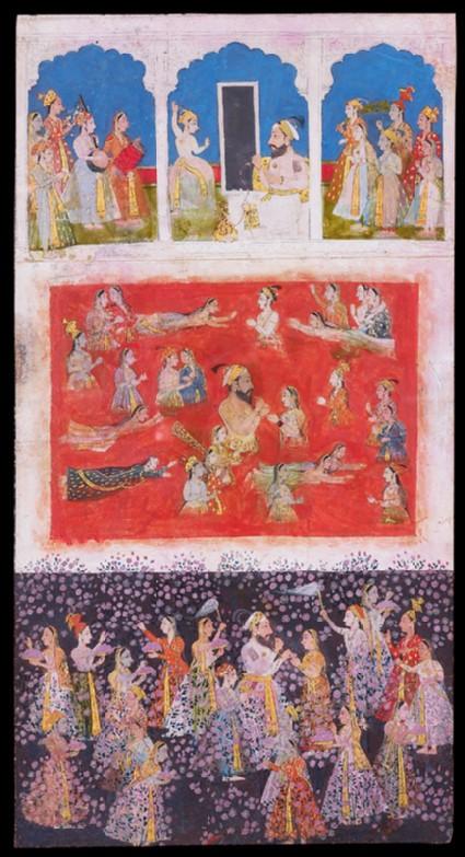 Maharana Amar Singh with his ladiesfront