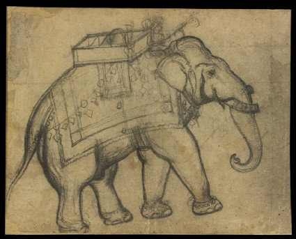 Elephant with howdahfront