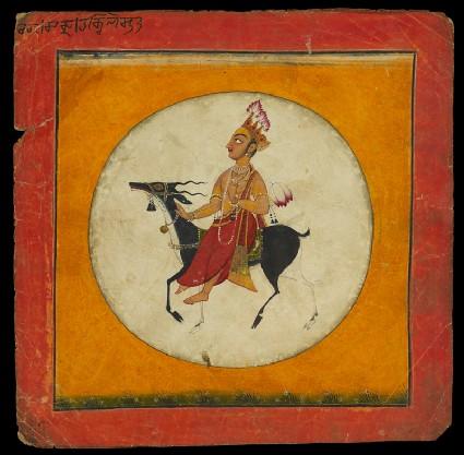 The moon god, illustrating the musical mode Raga Chandrafront