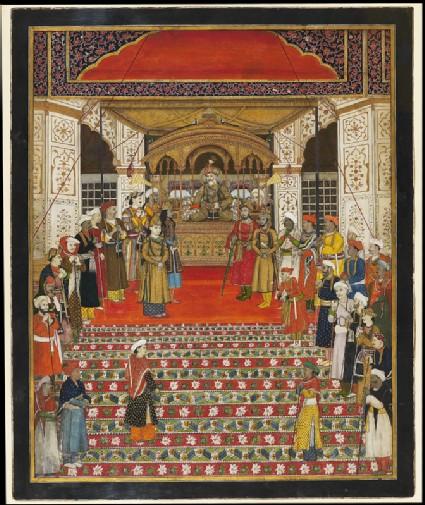 Durbar of Emperor Akbar Shah IIfront