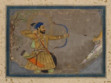 Sultan Ali Adil Shah II hunting a tigerfront