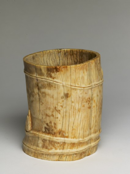 Brush pot in the form of a bamboo stemoblique