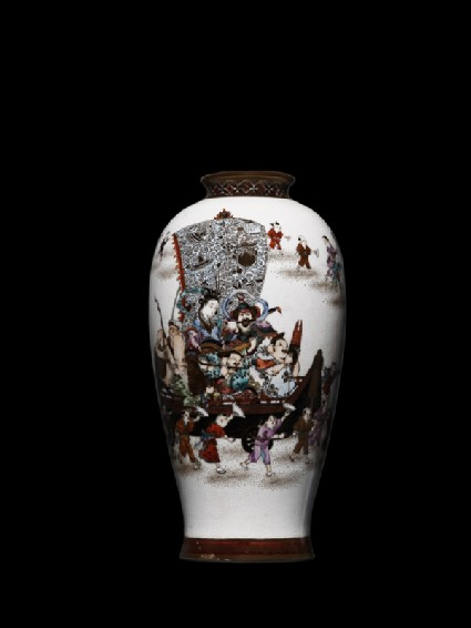Vase with procession celebrating the Seven Lucky Godsside