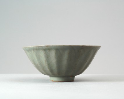 Greenware bowl with lotus petalsfront