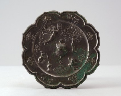 Mirror with the moon goddess Chang Efront
