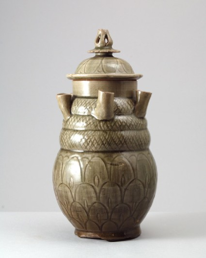 Greenware funerary jar with five spoutsfront