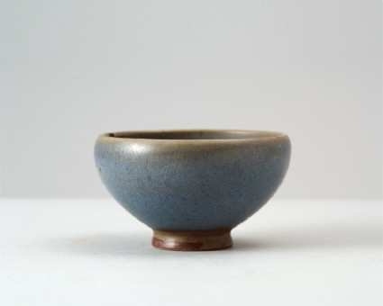 Cup with blue glazefront
