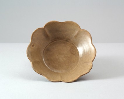 Greenware lobed bowl in the form of a flowerfront