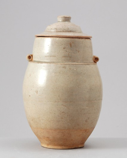 White ware funerary jar and lidfront