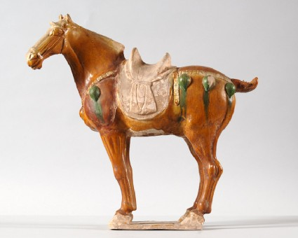 Figure of a horse with saddlefront