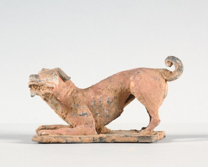 Figure of a crouching dogfront