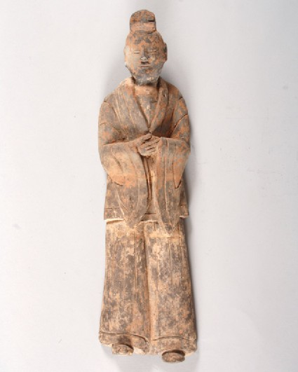 Figure of a dignitary wearing armourfront