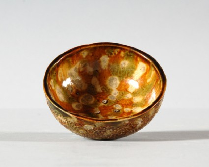 Bowl with three colour glazefront