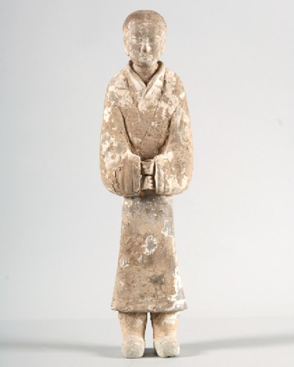 Figure of a male attendantfront