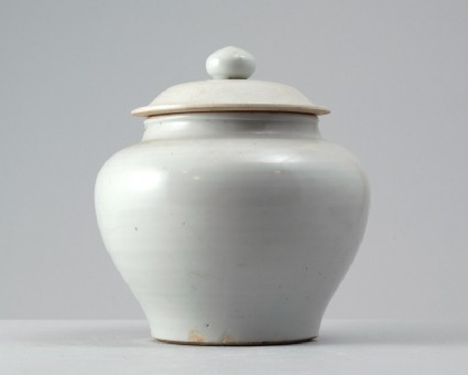 White ware baluster jar and lidfront