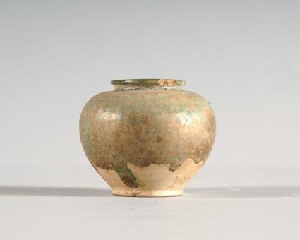 Jar with green glazefront