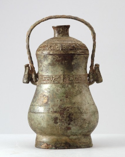 Ritual wine vessel, or you, with thunder-scroll patternfront
