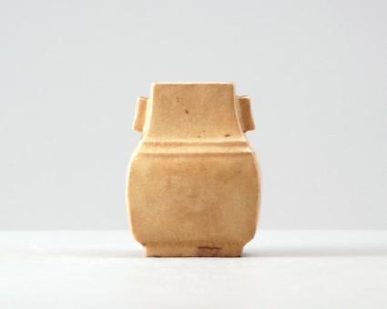 White ware fang hu, or rectangular vasefront