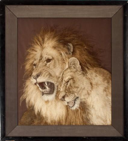 Lion and lionessfront, Cat. No. 34