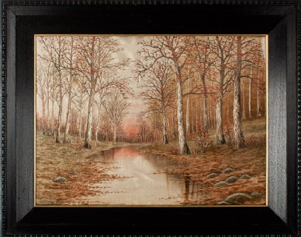 Trees beside a stream in autumnfront, Cat. No. 37