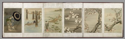 Screen depicting scenes from spring and summerfront, Cat. No. 39