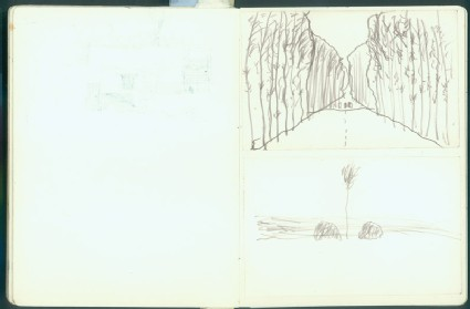 Sketchbook of northern Chinese landscapesfront