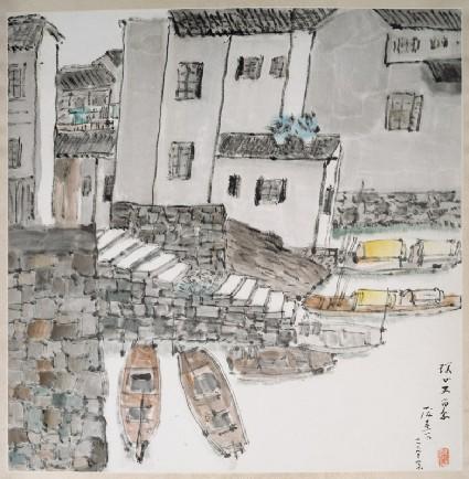 Riverside scene, Suzhoufront
