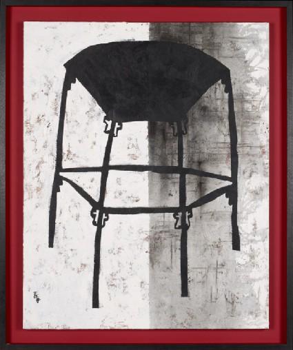 Fan-shaped stoolfront