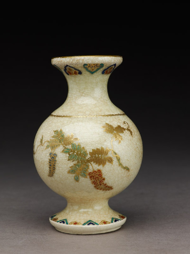 Ashmolean eastern art online yousef jameel centre for islamic satsuma vase with flowers and geometric patterns ea1956709 reviewsmspy